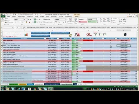 Excel Freelancing Example 001 | Account Log Manager-style Workbook