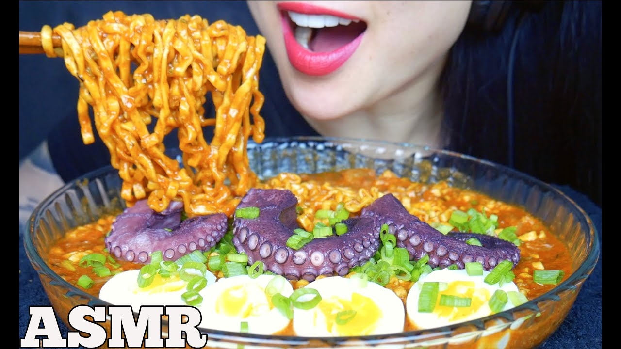 Asmr Spicy Noodles With Octopus And Eggs Simply Delicious Eating Sounds No Talking Sas Asmr Youtube Who makes the best asmr eating videos on youtube? asmr spicy noodles with octopus and eggs simply delicious eating sounds no talking sas asmr