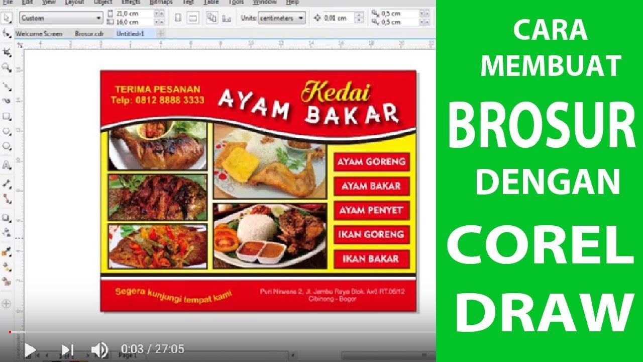 Cara Membuat Brosur Dengan Coreldraw Youtube