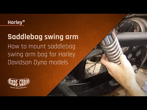 How to mount saddle bag swing arm bag for Harley Davidson Dyna models -  Ends Cuoio