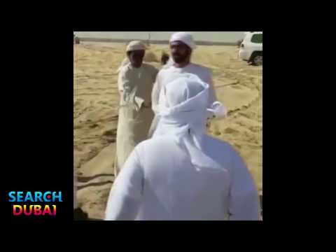 Его Высочество Шейх Мухаммед ибн Рашид аль Мактум совершает намаз в пустыне