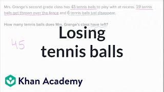 Losing Tennis Balls | Addition And Subtraction Within 100 | Early Math | Khan Academy