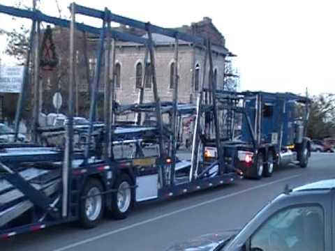 Peterbilt Car Hauler Passing Thur Goldthwaite Tx Youtube
