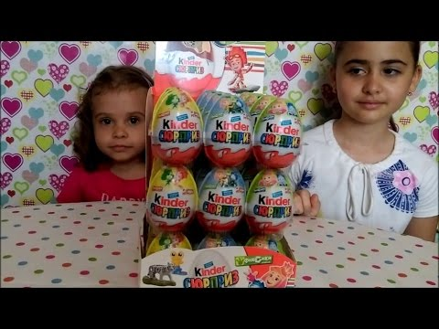 Видео, Киндер Сюрприз Фиксики , Kinder Surprise Fixiki unboxing 36 eggs