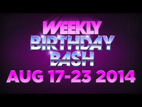 Celebrity Actor Birthdays - August 17 - August 23, 2014 HD