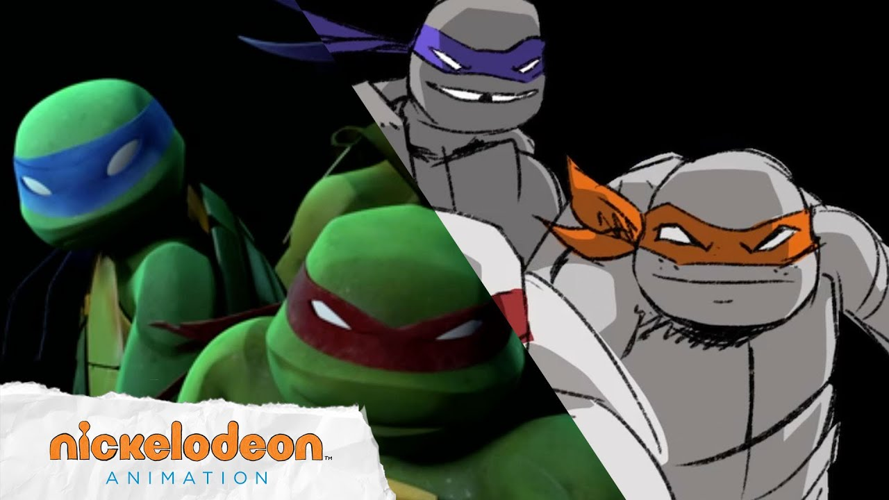 Tmnt Theme Song Animatic Seasons 1 4 Tmnt Nick Animation Youtube
