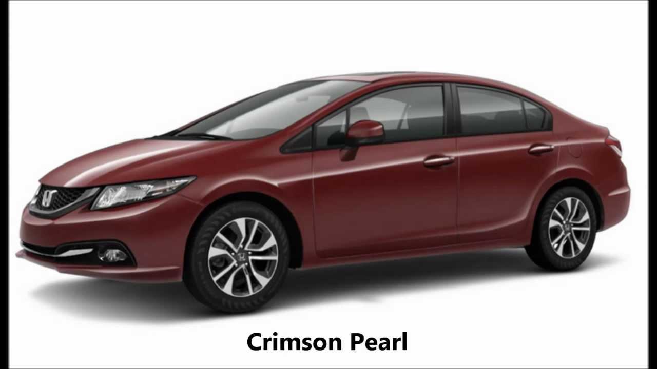 2013 Honda Civic Sedan Colors Youtube