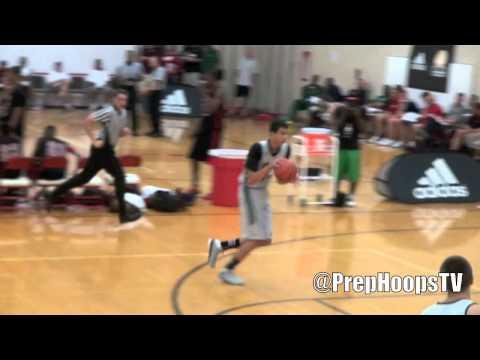 Josh Sharma 2015 Northfield-Mt. Hermon School with a dunk at the Adidas Invitational