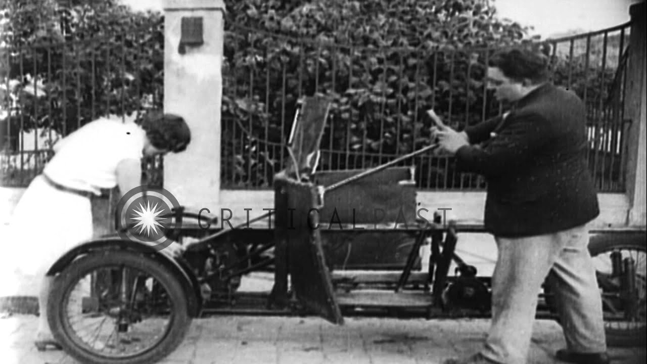 A foldable automobile invented by a German man in Berlin HD Stock ...