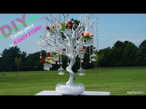 DIY Tall Glam Tree Wedding Centerpiece | DIY Money Tree | DIY Wish Tree Tutorial
