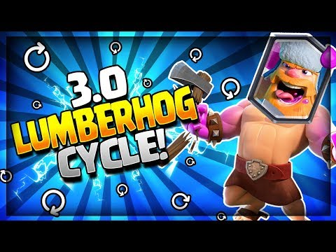 INSANE 3.0 SUPER FAST HOG LUMBERJACK CYCLE DECK!! Arena 9 to Arena 12- Clash Royale Strategy