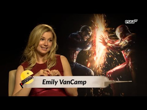 Emily VanCamp about kissing Captain America  Civil War