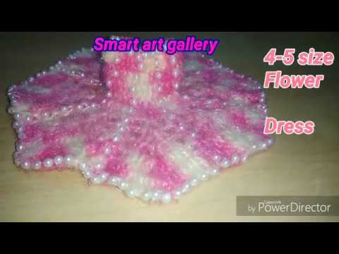 Flower dress with pearl size 4-5