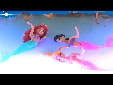 DIY GLOWING Mermaid Slime Beach Evening Party Scenery: Disney Princesses Ariel   Rainbow Collector