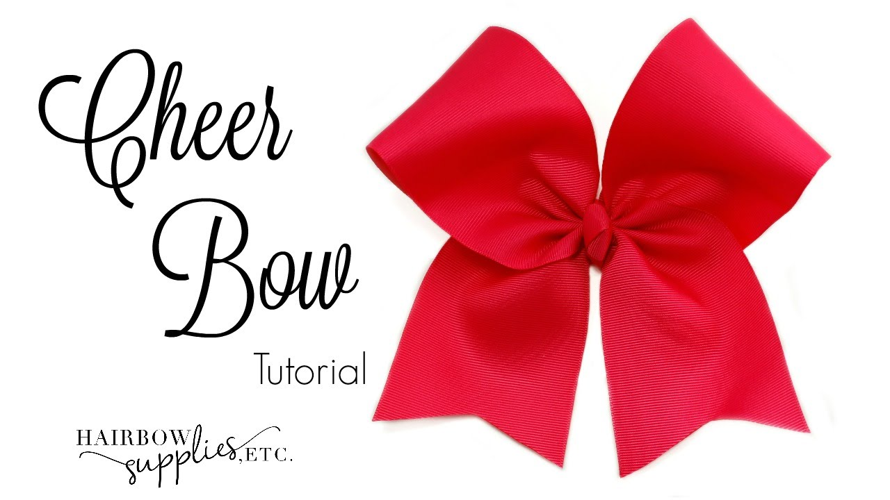 How To Make A Cheer Bow Hairbow Supplies Etc Youtube