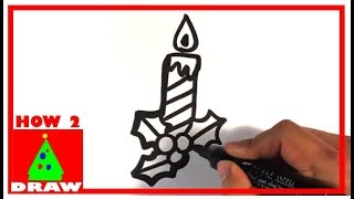 How to Draw a Candle - Christmas Drawings