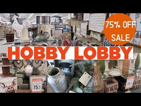 HUGE HOBBY LOBBY 75% OFF CLEARANCE SHOP WITH ME AND HAUL | FARMHOUSE HOME DECOR | HOBBY LOBBY SALE