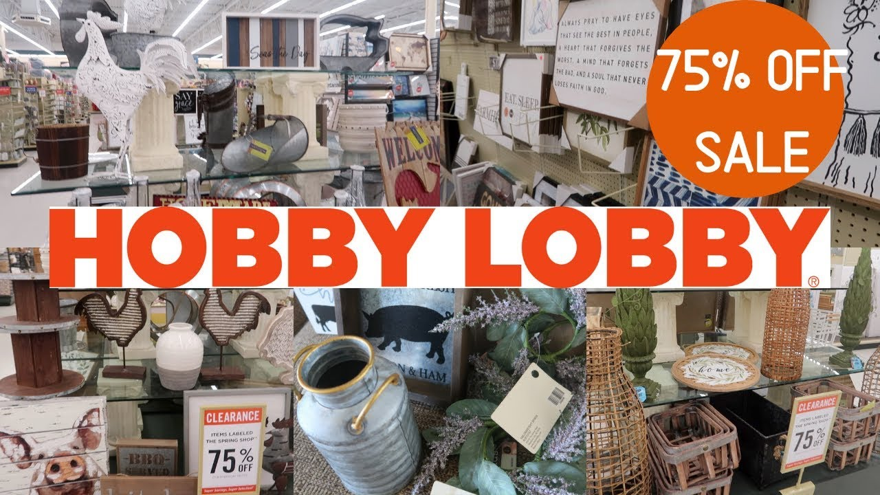 HUGE HOBBY LOBBY 75% OFF CLEARANCE SHOP WITH ME AND HAUL ... on Hobby Lobby Online Shopping id=71219