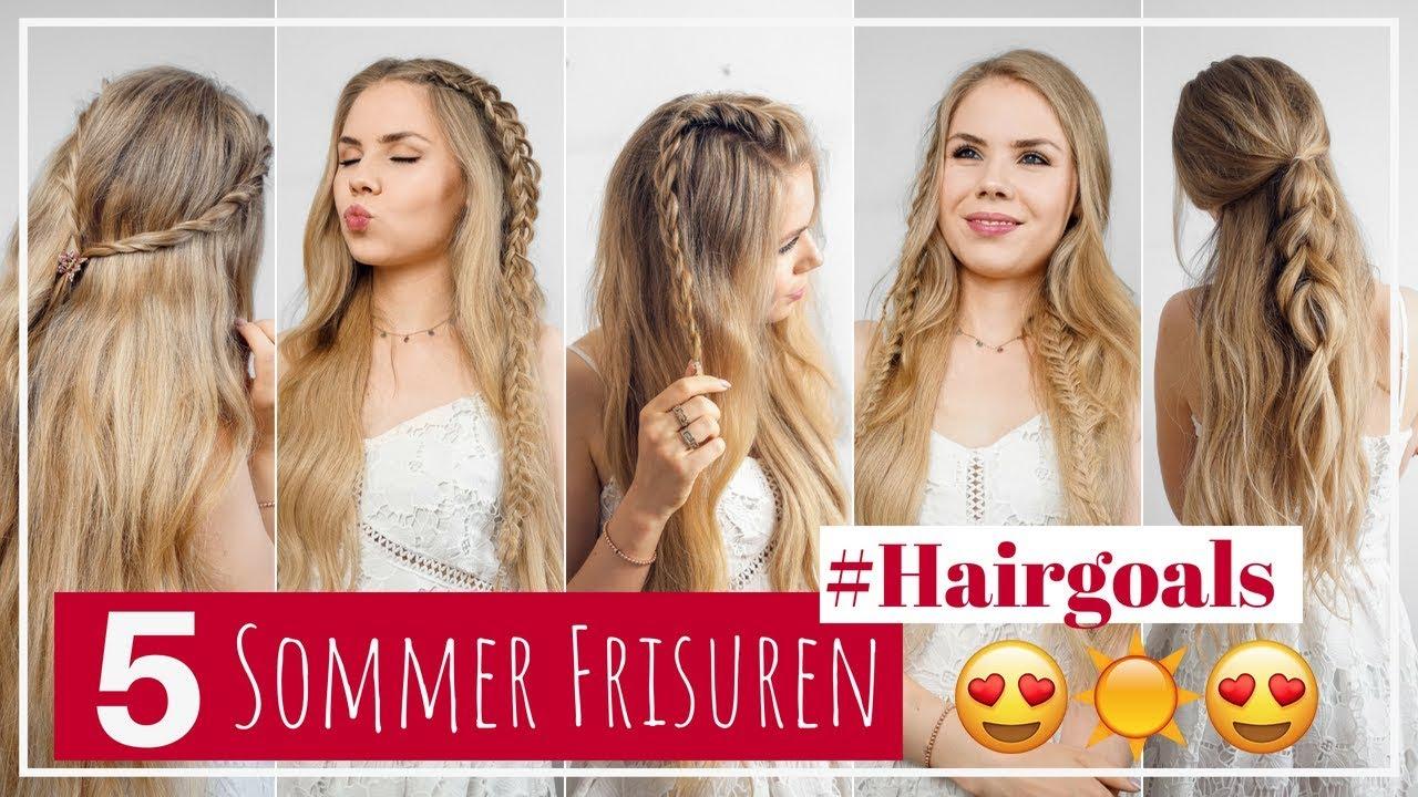 5 Einfache Sommerfrisuren Für Lange Haare Sommer 2018
