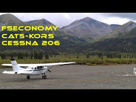FSX - FSeconomy - CAT5 to KORS - Cessna 206 Stationair