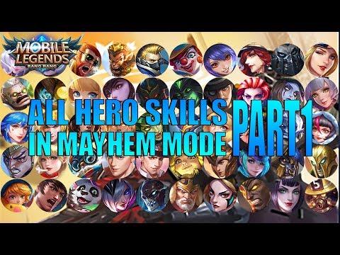 SEMUA SKILL BARU HERO DI MODE MAYHEM MOBILE LEGENDS PART 1