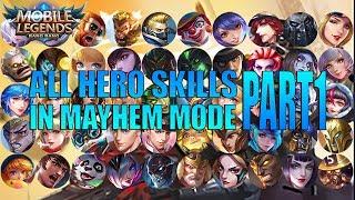 Download SEMUA SKILL BARU HERO DI MODE MAYHEM MOBILE LEGENDS PART 1
