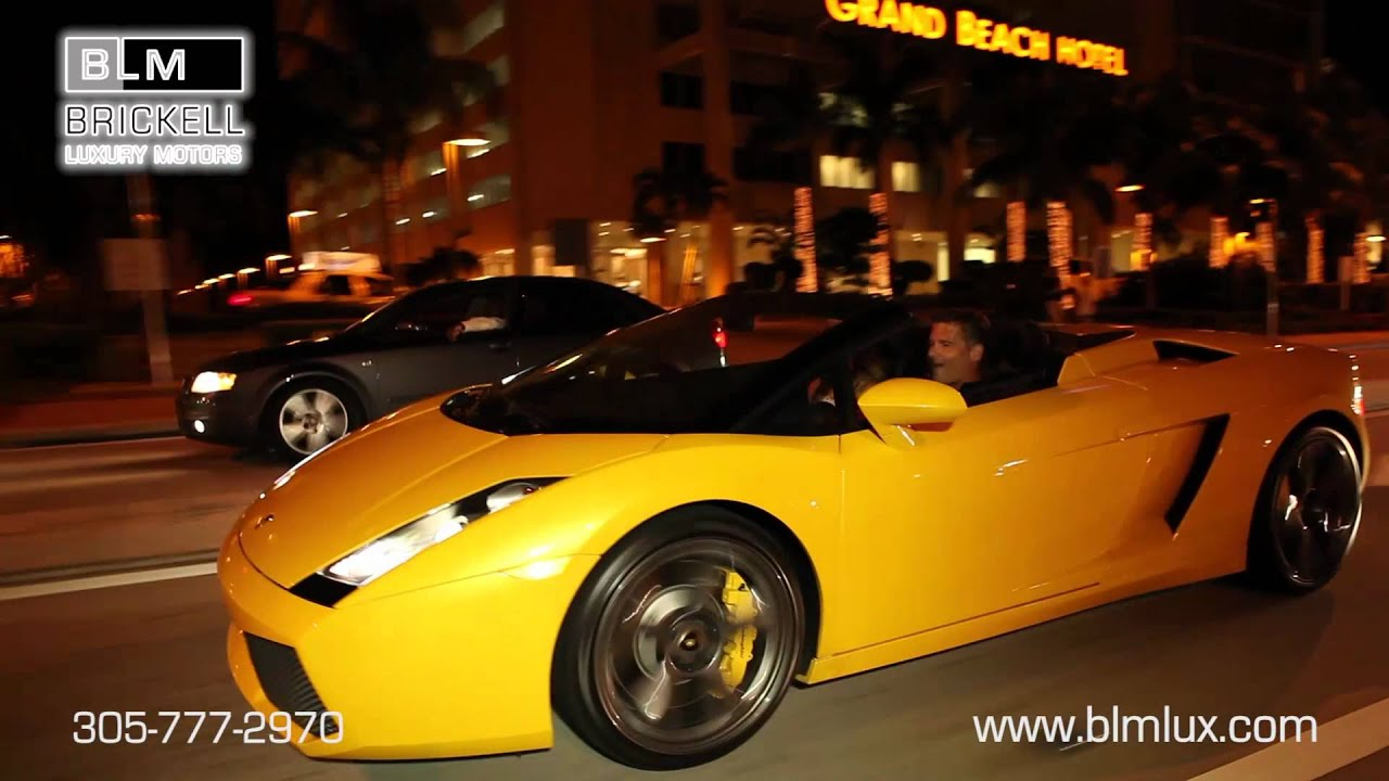 Cruise through miami with these exotic sports cars from for Brickell motors used cars