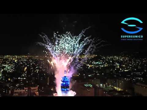Año Nuevo 2016, Santiago Chile, Torre Entel, SuperSunico SpA, Inspire 1 Pro Zenmuse X5 Dji