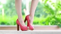 Дамски обувки с отворени пръсти и дебел ток от Кокетна