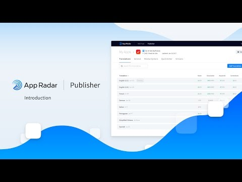 App Radar Publisher Introduction