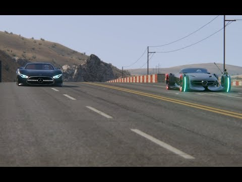 Top Speed Mercedes-Benz Vision GT Concept vs  Mercedes-Benz Silver Arrow Concept