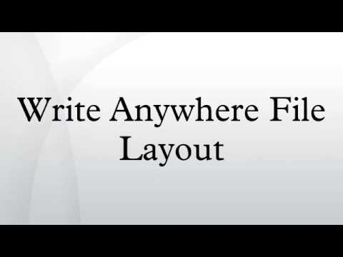 Write Anywhere File Layout
