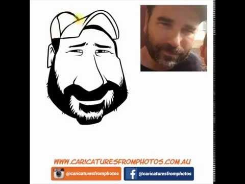 FREE Digital Caricature Sketch Perth - 04