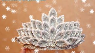 как сделать корону из атласных лент