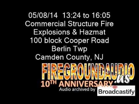 05-08-14: Commercial Building Fire: Berlin Twp, Camden County NJ