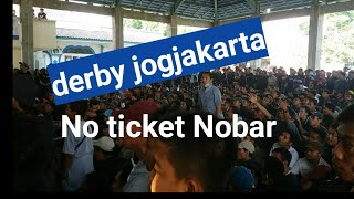 Aksi Nobar sleman fans derby Jogja pss vs psim 10 Oktober 2018
