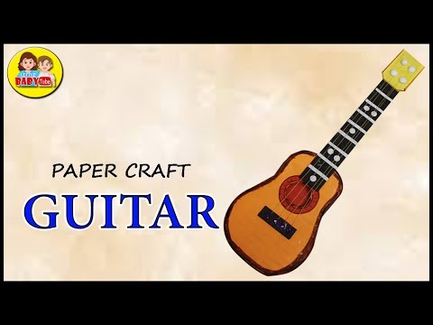 How to make Mini Cardboard Guitar - Paper Crafts - Best Out of Waste