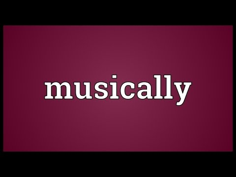 Musically Meaning