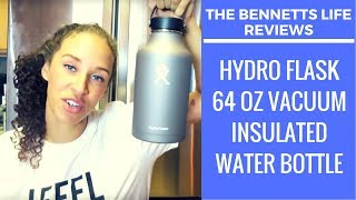 product review   hydro flask 64 oz vacuum insulated water bottle