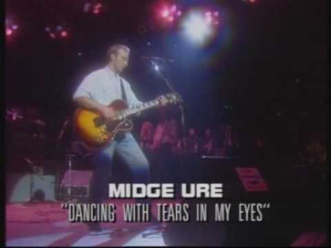 Midge Ure (Ultravox)  - Dancing with tears in my eyes (1988 live)