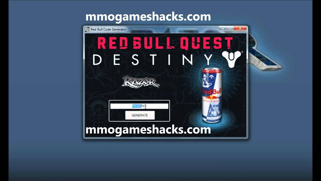 how to get free destiny red bull codes easy method youtube
