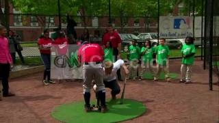Ny:prince Harry Up To Bat At Baseball Event  Fun!