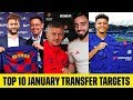 TOP 10 BIGGEST JANUARY TRANSFERS TARGETS 2020😱| CONFIRMED 2020 TRANSFERS w/ SANCHO HAALAND &  NEYMAR