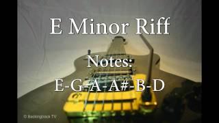 Riff Rock Guitar Backing Track in E Minor