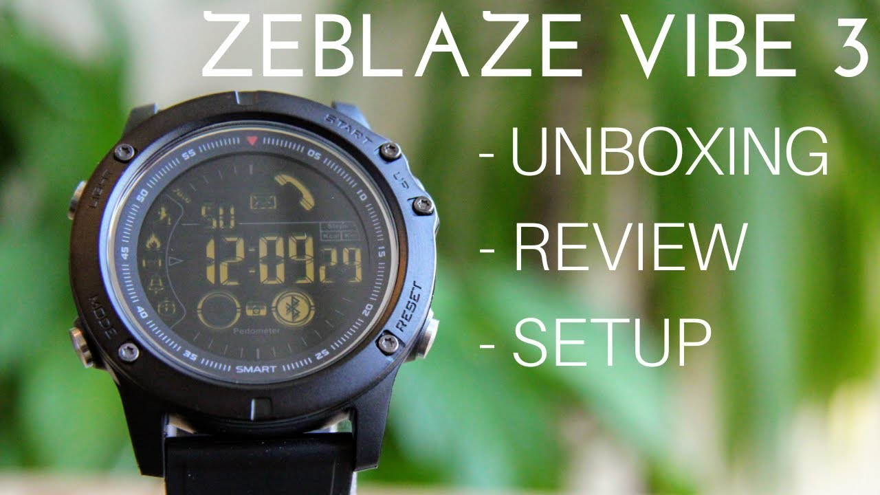 Zeblaze Vibe 3 Smartwatch Unboxing Review And Setup Youtube