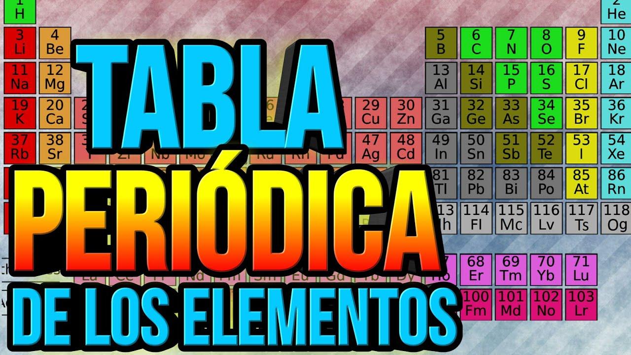 La tabla peridica de los elementos youtube la tabla peridica de los elementos urtaz Choice Image