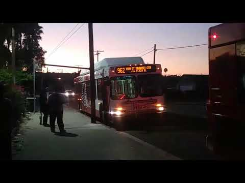 San Diego MTS Bus New Flyer C40LF 2706 Route 962 to 8th Street TC