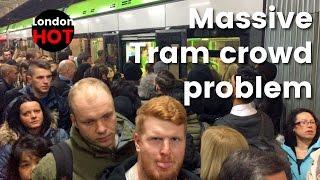 Massive crowd control problem for the Wimbledon-Croydon tram