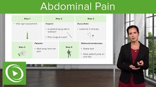 Abdominal Pain: Signs, Examination & Diagnosis – Emergency Medicine | Lecturio