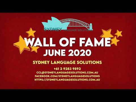 Sydney Language Solutions CCL Passers In June 2020